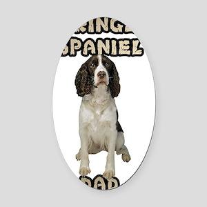 Springer Spaniel Dad Oval Car Magnet