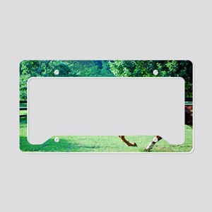 Spring Gallop License Plate Holder