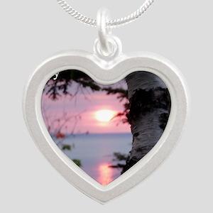 LKS5x7 Silver Heart Necklace