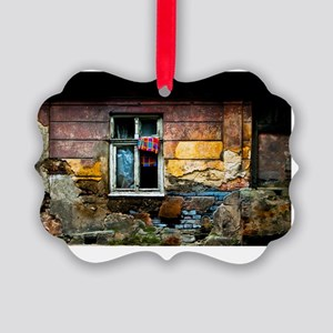 postcard facade gispy house Picture Ornament
