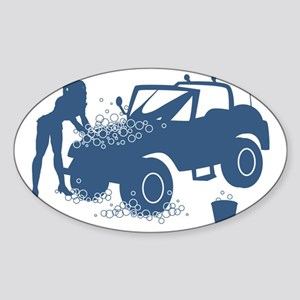 Sexy Carwash Sticker (Oval)