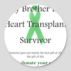 BrotherHeartTransplant Round Car Magnet
