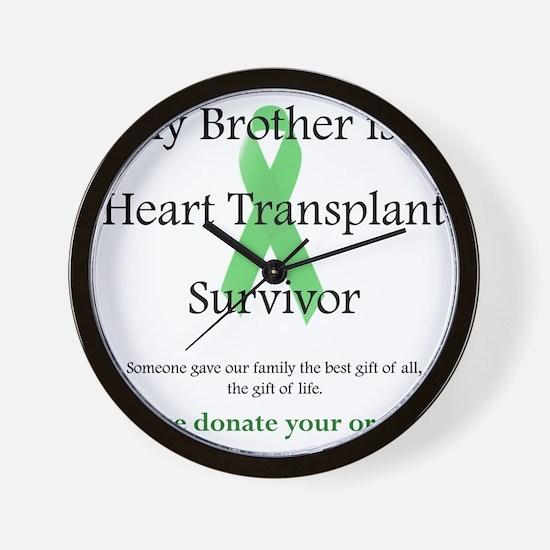 BrotherHeartTransplant Wall Clock