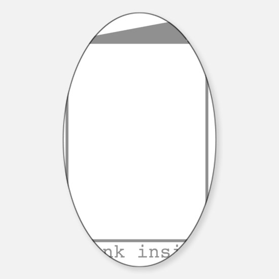 Blank Inside Sticker (Oval)