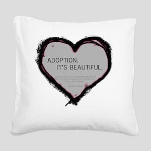 adoption beautiful 2 Square Canvas Pillow