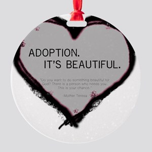 adoption beautiful 2 Round Ornament