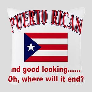 puerto rican Woven Throw Pillow