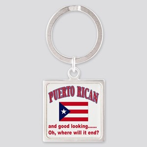 puerto rican Square Keychain
