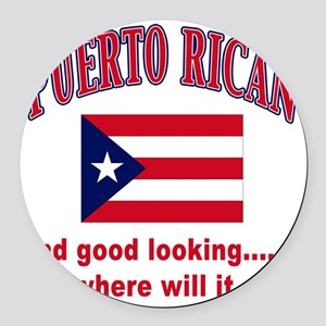 puerto rican Round Car Magnet