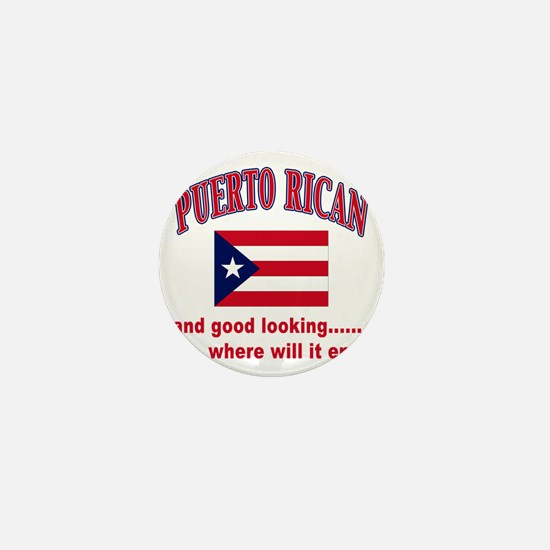 puerto rican Mini Button
