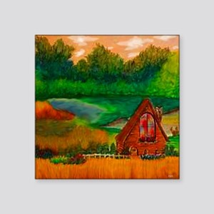"country Square Sticker 3"" x 3"""