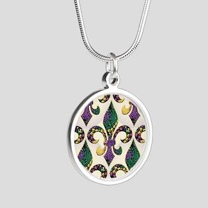 FleurMGbeadsJPmp Silver Round Necklace