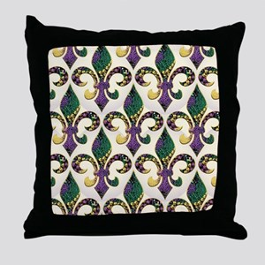 FleurMGbeadsJPFlipf Throw Pillow