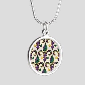 FleurMGbeadsJPFlipf Silver Round Necklace