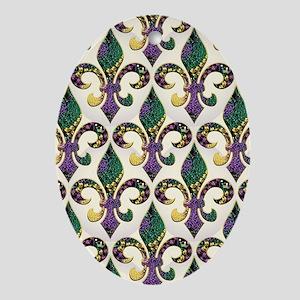 FleurMGbeadsJPFlipf Oval Ornament