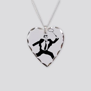 Russian President Medvedev Necklace Heart Charm