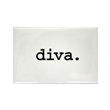 diva. Rectangle Magnet (100 pack)