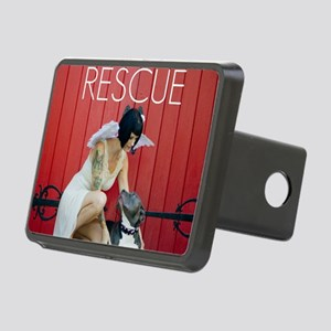 Red Rescue Rectangular Hitch Cover