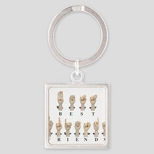 Best Friends Amslan Keychains