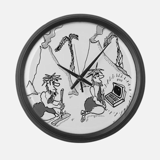 1802_fire_cartoon_EK Large Wall Clock
