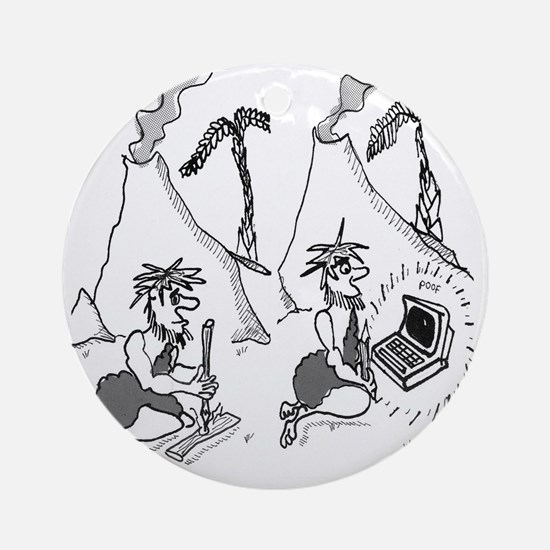 1802_fire_cartoon_EK Round Ornament