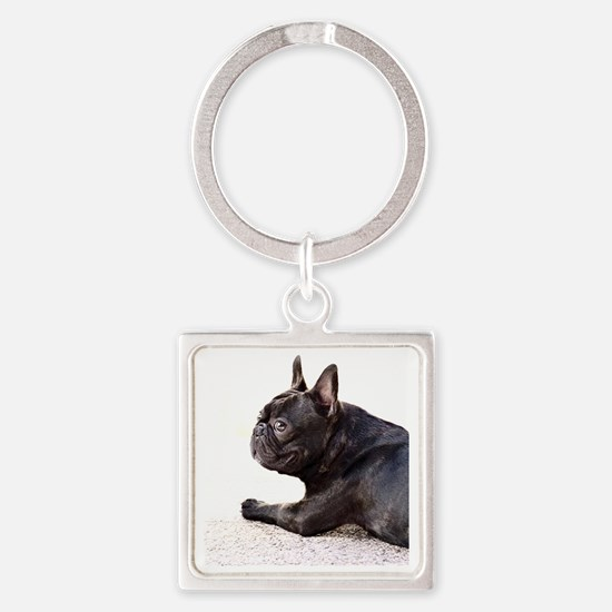 french bulldog a Square Keychain