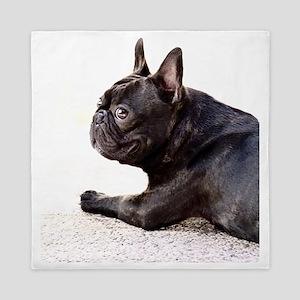 french bulldog a Queen Duvet