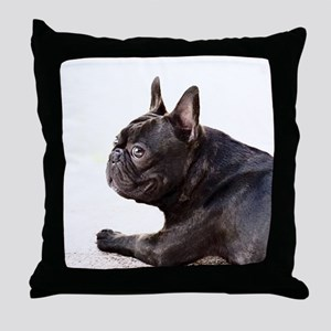 french bulldog a Throw Pillow