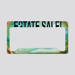 estatesalesign License Plate Holder