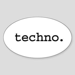 techno. Oval Sticker