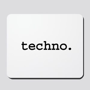techno. Mousepad