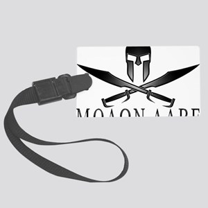 Spartan_Helmet__Swords_Crossed_O Large Luggage Tag