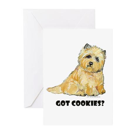 Cairn Terrier - Got Cookies? Greeting Cards (Packa