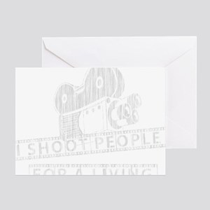 I Shoot People-white with cam Greeting Card