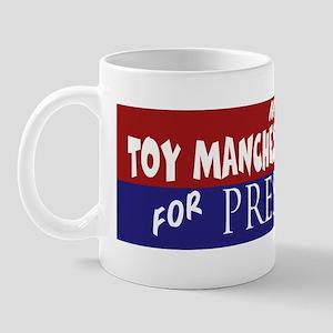 Toy Manchester Terrier_ELECTION STICKER Mug