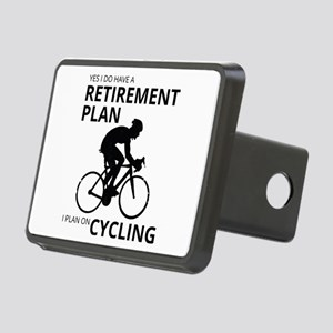 Cyclist Retirement Plan Rectangular Hitch Cover