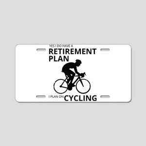Cyclist Retirement Plan Aluminum License Plate