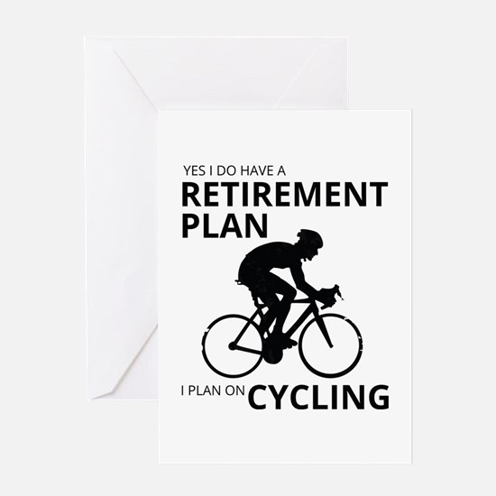 Cyclist Retirement Plan Greeting Cards