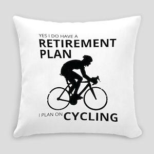 Cyclist Retirement Plan Everyday Pillow
