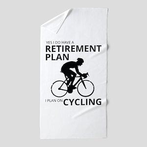 Cyclist Retirement Plan Beach Towel