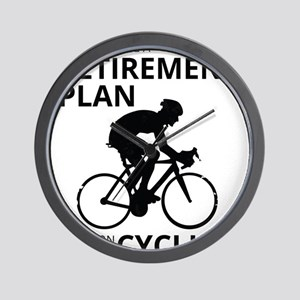 Cyclist Retirement Plan Wall Clock