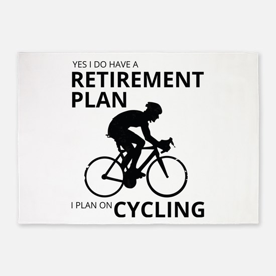 Cyclist Retirement Plan 5'x7'Area Rug
