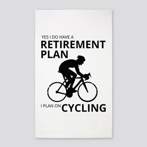 Cyclist Retirement Plan Area Rug