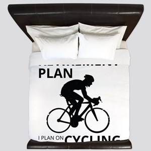 Cyclist Retirement Plan King Duvet