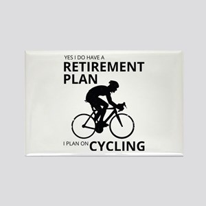 Cyclist Retirement Plan Magnets