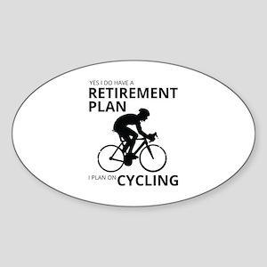 Cyclist Retirement Plan Sticker