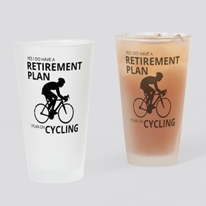 Cyclist Retirement Plan Drinking Glass