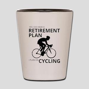 Cyclist Retirement Plan Shot Glass