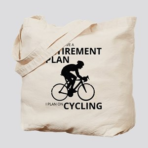 Cyclist Retirement Plan Tote Bag
