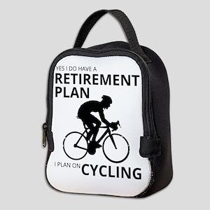 Cyclist Retirement Plan Neoprene Lunch Bag